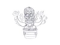 Man Skeleton Sketch