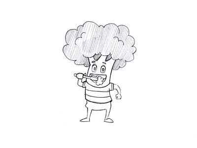 Broccoli Cartoon Character Sketch character sketch sketch design hand concept draw cartoon sketch pencil cartoon concept design koncept character drawing pencil sketch sketching sketch
