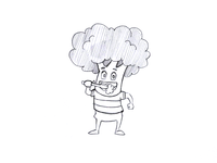 Broccoli Cartoon Character Sketch