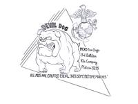 Devil Dog Sketch Design