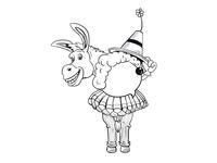 Funny Donkey Sketch Design