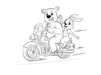 Bear And Bunny Sketch Design