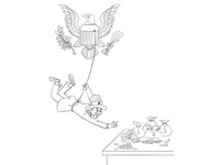 Uncle Sam Is Stealing Money - Sketch Design