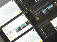 Light vs Dark Theme - Web Platform for Booking Outdoor Media