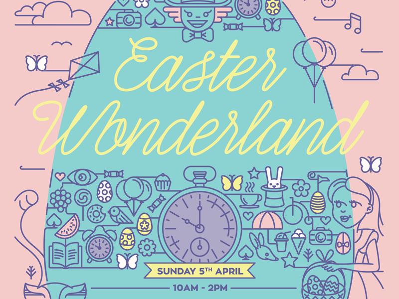 Easter Wonderland easter alice in wonderland