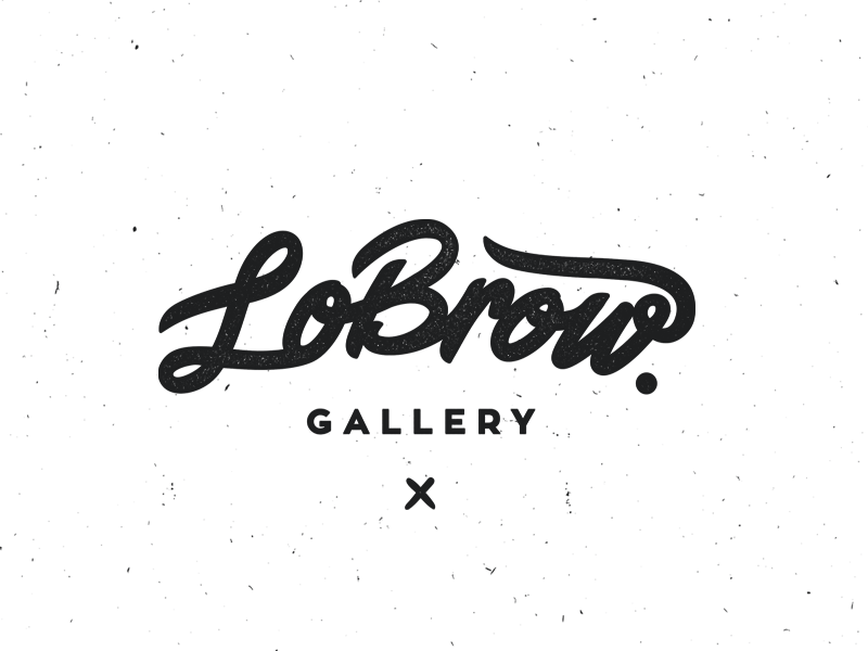 LowBrow Gallery branding type typography logo sanchos dirty laundry cohen gum gallery lowbrow