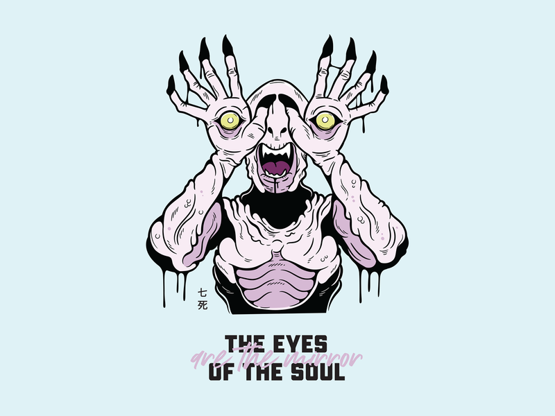 Paleman - The eyes are the mirror of the soul monster vector art vector illustrator pans labrynth paleman