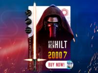 Kylo Ren Hilt Shopping Card [Concept]