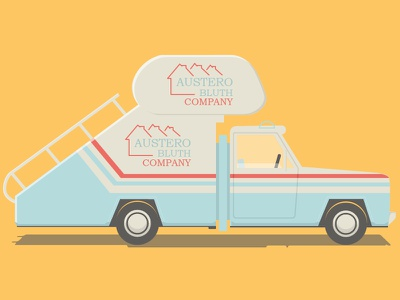 Austero Bluth Stair Car arrested-development ad illustrator staircar hopons