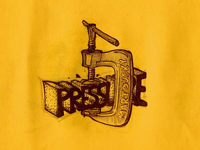 09. Pressure inktober2021 art sketch illustrator illustrate illustration martovsky inktober