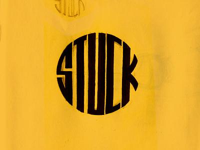 12. Stuck typo type art sketch illustrator illustrate illustration martovsky inktober inktober2021