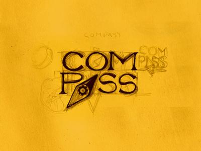 16. Compass mrtvsk sketchbook sketching lettering logotype logo compass art sketch illustrator illustrate illustration martovsky