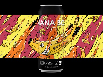 Banana Bomb - label for Dogma Brewery