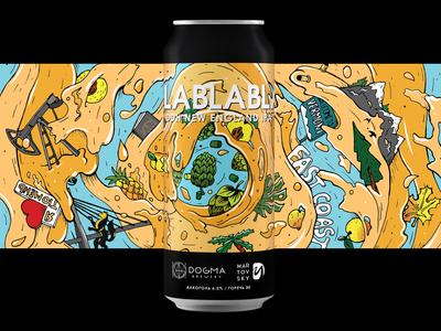 Blablabla - label for Dogma Brewery