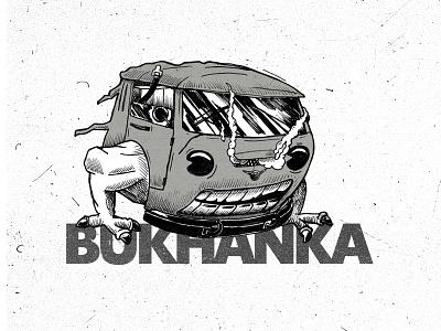 "UAZ-452 ""Bukhanka"" 4х4 Soviet Off-road car sketching sketch ink monstr monster truck vehicles business card auto jeep off-road offroad bukhanka bukhanka uaz"