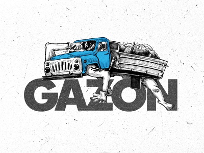 "GAZ-53 ""GAZON"" Soviet Truck sketch monster монстр russia ussr soviet car auto truck грузовик"