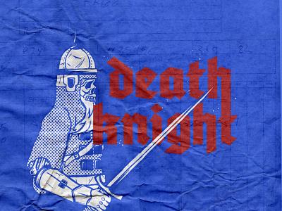 Death Knight procreate skeleton skully skull martovsky illustrate illustration texture gothic sketch kingdom knight