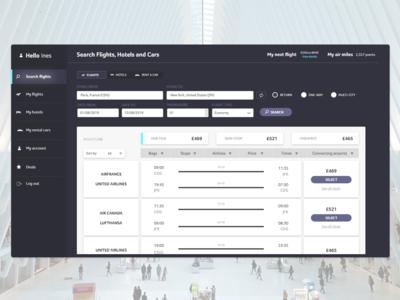 Flight finder - Web app