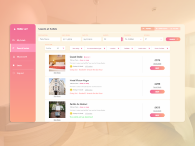 Hotel booking - Web app