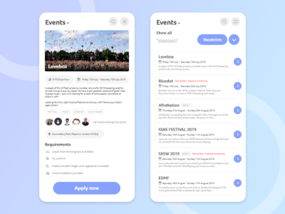 Event Work - Mobile