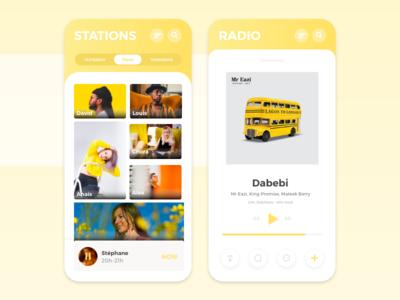 Radio player - Mobile app