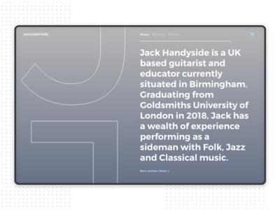 Musician website - website portfolio