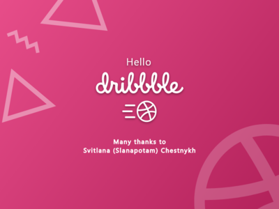 My First Shoot - Hello Dribbble