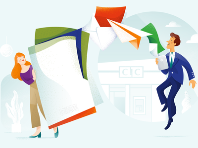Simplify banking communication - Case study web app ui case study illustration