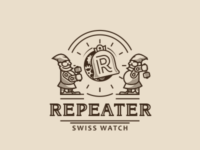 Repeater logo watch swiss repeater
