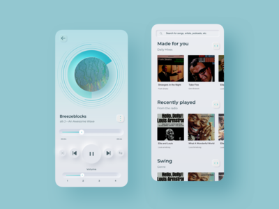 Neumorphism music app