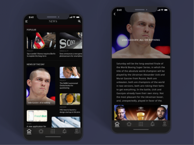 New Application Design Preview menu x iphone ios personalized paragraph newsstand read news minimal lifestyle design