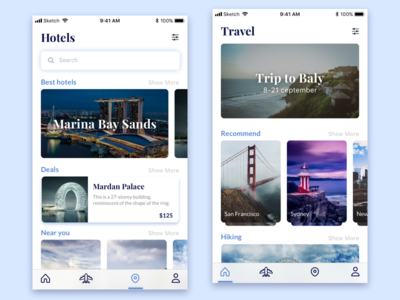 Travel Application Design x read personalized trip hotels recreation travel menu lifestyle iphone ios design