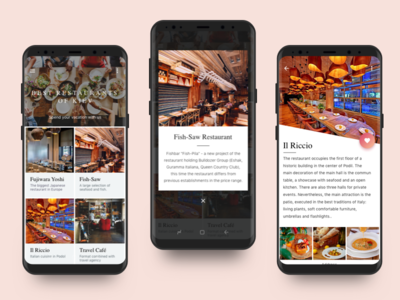 App for restaurant mini card places photo detail food app cafe new app restaurant food