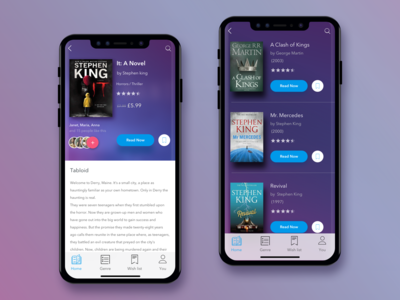 Books App iphone blue book book app product card mobile ecommerce design app ux ui animation