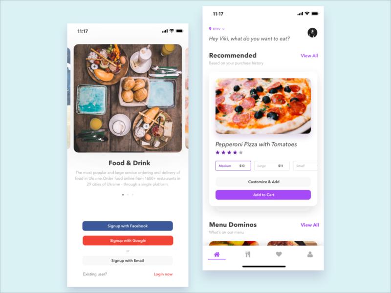 Food Delivery App delivery app delivery lifestyle food catalog ios product card menu iphone mobile ecommerce design ui