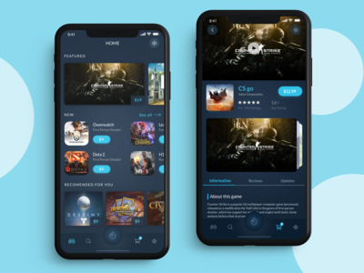 Game application game app game product card catalog menu ios iphone design app ux ui