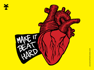 Make it beat hard vincenzo giannattasio yellow conceptual staytru youcancallmetruman beat heart illustration