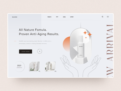 Concept - Cosmetic Product Page website design interactive labs product design home page landing page home screen
