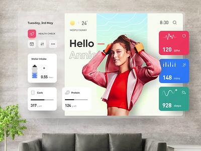 Future Lifestyle - Concept tv app apple desktop app product design animation ui interactive labs