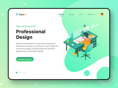 Webdesign For FaceUi