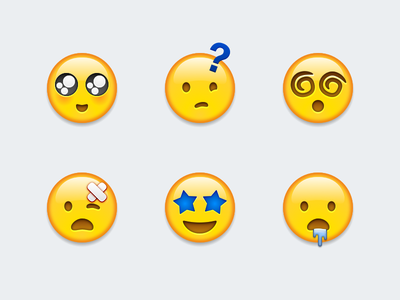 New Apple Emojis sketch expressions apple drooling starstruck injured hypnotized confused enamored emojis
