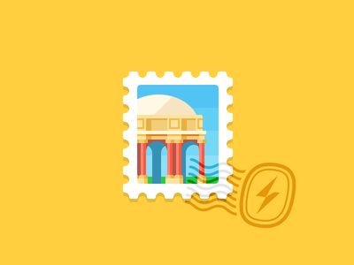 Palace Of Fine Arts san francisco palace of fine arts columns architecture california illustration stamp swiftype