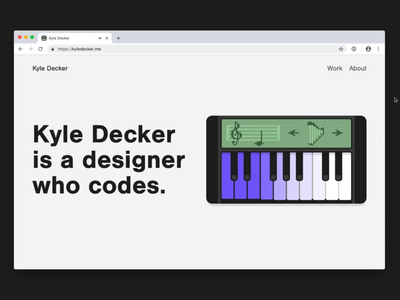 New Portfolio - Synth howler svg portfolio samples farts mario rupaul interactive keyboard piano synth
