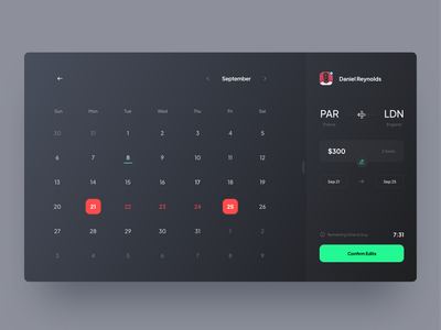 T-Ket app (Calendar view) web ticket app travel app calendar travel ticket userinterface appdesign concept uidesign minimal design ui