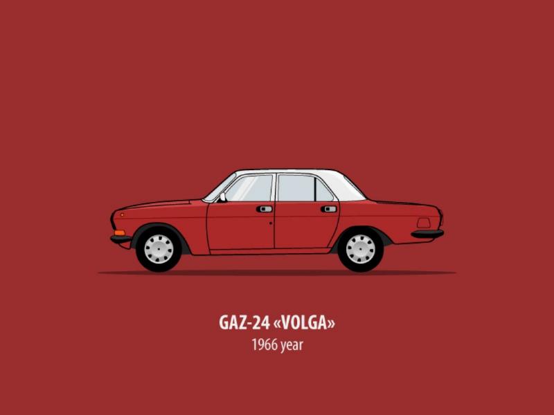 Volga volga vehicle vector sideview russia old car illustrator illustration design car side car auto