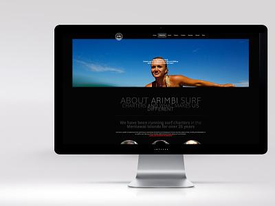 ARIMBI typography ux web ui photography wordpress design branding logo web design website
