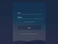 Login screen - UI