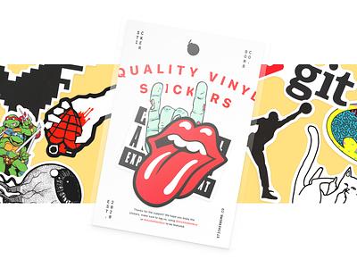 Sticker Pack — Sticker Bomb Co. physical print packaging minimal design illustration branding simple graphic sticker