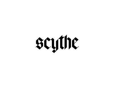 Scythe Logo Concept concept slant lettering blackletter typography type logo scythe