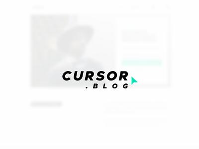 Cursor Blog - Landing Page (Sold) ui web minimal branding blog cursor brand logo mark